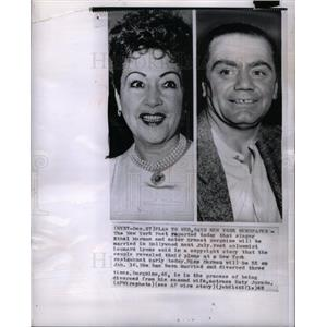 1963 Press Photo Ethel Merman Ernest Borgnine Marriage