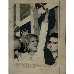 1974 Press Photo Melina Mercouri Greek Junta Caramanlis