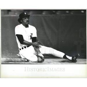 Press Photo Al Cowens Baseball Player