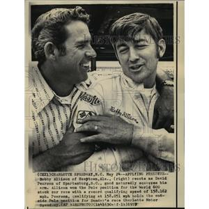 1972 Press Photo Race Car Drivers Bobby Allison and David Pearson at Race