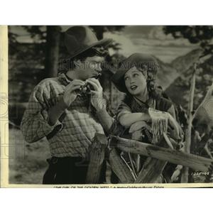 1938 Press Photo Buddy Ebsen, Jeanette MacDonald in The Girl of the Golden West