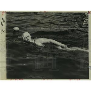 1936 Press Photo Wimmer Gertrude Ederle Swimming English Channel - nos11273