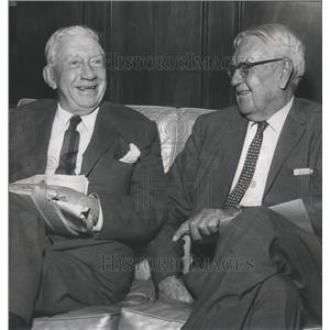 1961 Press Photo John Wheeler and Dr. John Buchanan, World War One Veterans