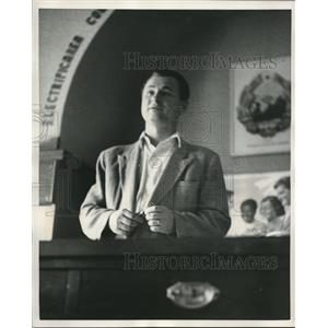 1953 Press Photo Yan Morega, Director of Clement Gottwald Works in Romania