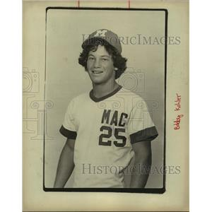 1978 Press Photo MacArthur High baseball first baseman Bobby Kohler - sas10320