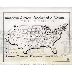 1941 Press Photo Maps of Aviation News Committee distribution of Nation Airplane