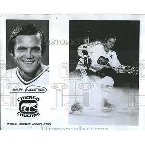 1973 Press Photo Ralph Backstrom Chicago Cougars hockey - RRQ50061