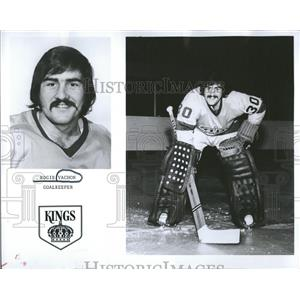 1974 Press Photo Los Angeles Kings Goalie Vachon Roster - RRQ50511