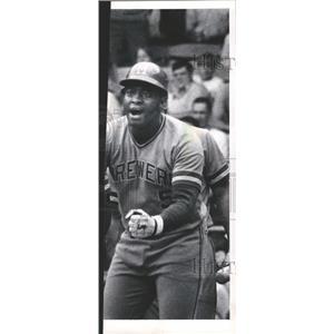 1976 Press Photo George Scott Milwaukee Brewers MLB - RRQ59083