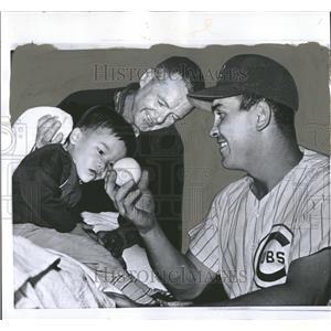 1959 Press Photo Mark Fujimata Earl Averil Cubs Braves - RRQ58811