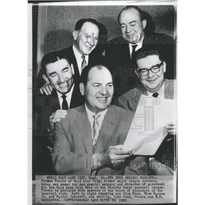 1960 Press Photo Herman Franks Salt Lake City Bees Mgr. - RRQ15889