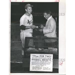 1968 Press Photo St. Pete Card Ed Powell and Sandy Stiles of St Pete Times
