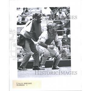 1971 Press Photo Phil Roof Baseball Catcher Milwaukee Brewers Snap - RRQ70487
