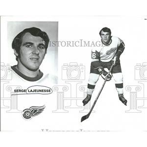 1972 Press Photo Serge Lajeunesse Detroit Red Wings - RRQ12857