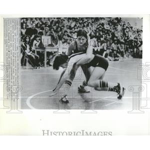1974 Press Photo Wrestles Bernadette Spencer Butte - RRQ13363
