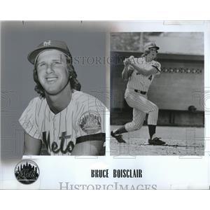 1976 Press Photo Bruce Boisclair New York Mets - RRQ09315