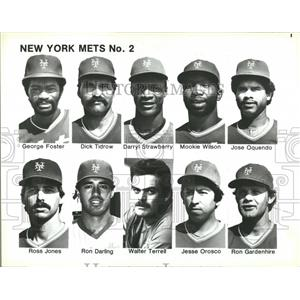 1986 Press Photo New York Mets Roster Jones Darling - RRQ50213