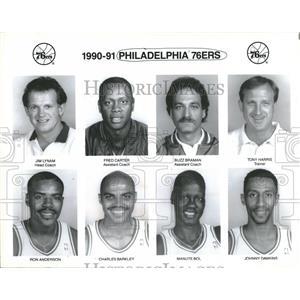 Press Photo Philadelphia 76ers Basketball Team Members - RRQ14557