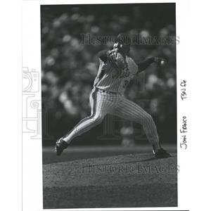 Press Photo John Franco Left Handed Relief Pitcher Mets - RRQ31013