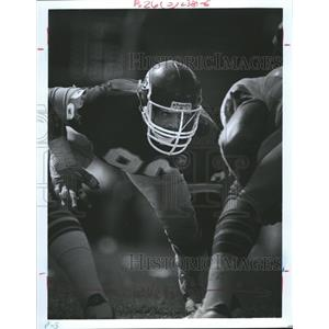 Press Photo Kansas City Chiefs Player Bell Ready Line - RRQ62015