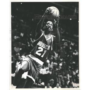 Press Photo Houston Rockets Player Floyd Making Lay Up - RRQ62401