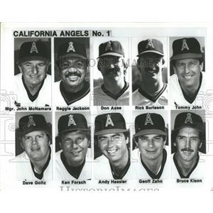 Press Photo roster California Angels Reggie Jackson - RRQ68655