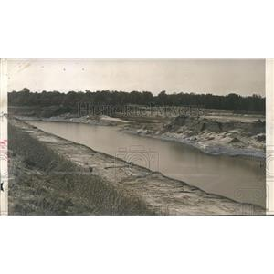 1957 Press Photo Site of lock and dam at Warrior-Tombigbee River in Demopolis