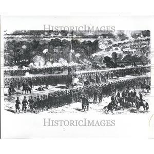 1961 Press Photo Civil War Battle Malvern Hill Michigan - RRV76121