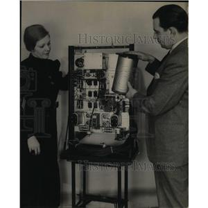 1935 Press Photo Western Electric Company AK Urton Room - RRX65017