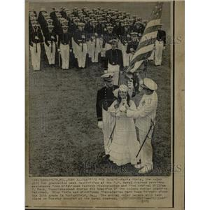 1974 Press Photo Marie Stein US Naval Academy Wiliam - RRW23189