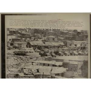 1976 Press Photo Refugee Camp in Lebanon