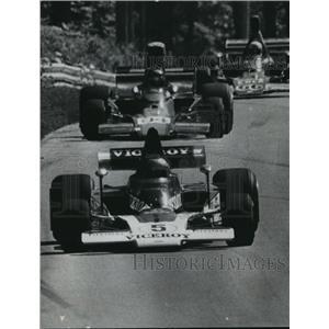 1974 Press Photo Elkhart Lake Race - Mario Andretti, Eppie Wietzes, Other Racers