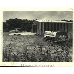 1981 Press Photo Controversial helicopter operation adjacent to N.O. Airport
