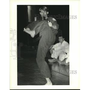 1995 Press Photo James Hymel during the Battle of New Orleans Karate tournament