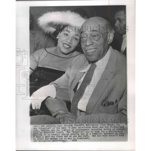 1958 Press Photo Actor Harry Moore & wife in court, California