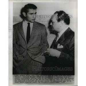 1954 Press Photo Beverly Hills, California- Edward G. Robinson with Edward Jr.