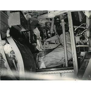 1940 Press Photo English Reconnaissance pilot's view of his gunner
