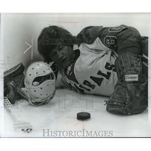 1973 Press Photo Milwaukee Admiral hockey goalie, Roy Boyle - mjt01698