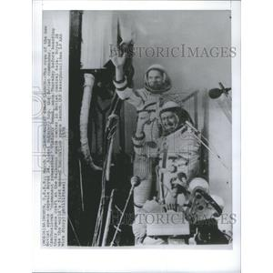 1978 Press Photo Soviet space capsule Soyz Alexei Gubarev Czechoslovak Cosmonaut