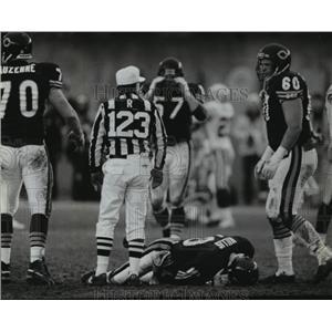 1992 Press Photo Chicago Bears - Peter Tom Willis, Quarterback, in Loss