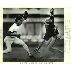 1989 Press Photo The San Antonio Missions and Wichita play minor league baseball