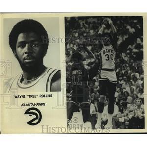 "Press Photo Atlanta Hawks basketball player Wayne ""Tree"" Rollins - sas14263"