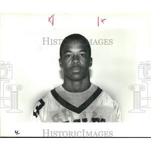 1992 Press Photo Shaw High School Football Starter, Bruce James - nob45220