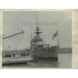 1922 Press Photo British cruiser Raleigh arriving at Washington - mjm04819