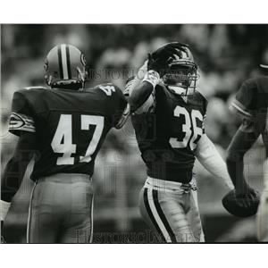 1993 Press Photo Packers football's LeRoy Butler all smiles during scrimmage