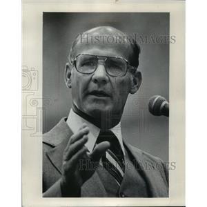 1979 Press Photo Dallas Cowboys football coach, Tom Landry at prayer breakfast