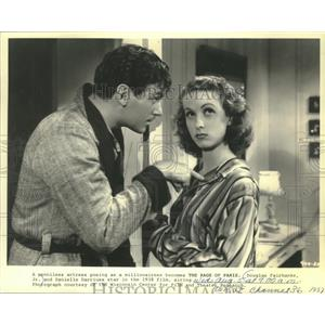 "1987 Press Photo actor Douglas Fairbanks Jr. in the 1938 ""The Rage of Paris"""