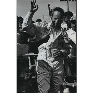 1973 Press Photo A very happy Wally Dallenbach, race car driver. - mjt04656