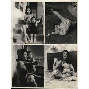 1968 Press Photo Actress Carol Lawrence and sons, Michael and Christopher.