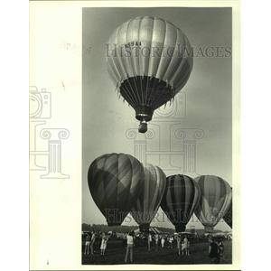 1987 Press Photo Louisiana Balloon Festival and Airshow at the Hammond Airport